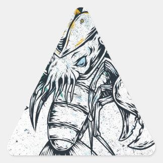 Sealife Lobster Triangle Sticker