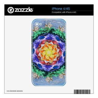 Sealife Spectrum Mandala iPhone 4 Decals