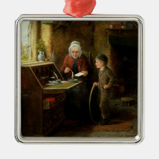 Sealing a Letter, 1890 (oil on panel) Metal Ornament