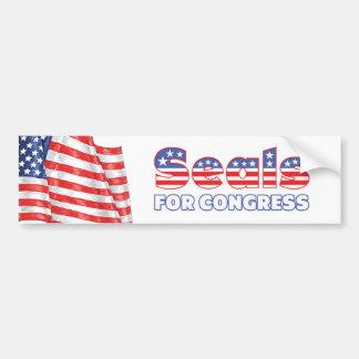Seals for Congress Patriotic American Flag Bumper Sticker