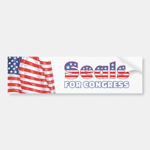 Seals for Congress Patriotic American Flag Car Bumper Sticker