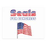 Seals for Congress Patriotic American Flag Postcard