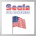 Seals for Congress Patriotic American Flag Posters