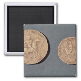 Seals of Charles I  of Anjou 2 Inch Square Magnet