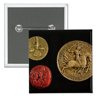 Seals of Gilles de Laval  Lord of Rais Buttons