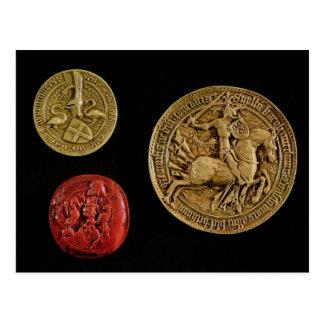 Seals of Gilles de Laval  Lord of Rais Postcard
