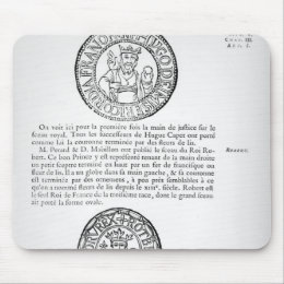 Seals of Hugues Capet  and Robert II  the Pious Mouse Pad