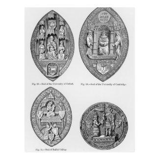 Seals of the Universities Postcard