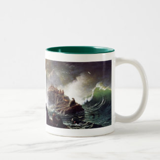 Seals on the Rocks by Albert Biestadt Two-Tone Coffee Mug