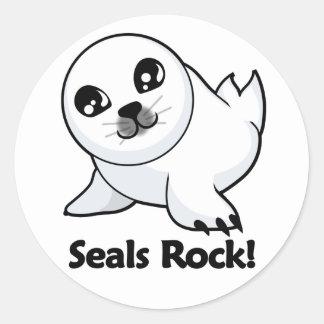 Seals Rock! Classic Round Sticker
