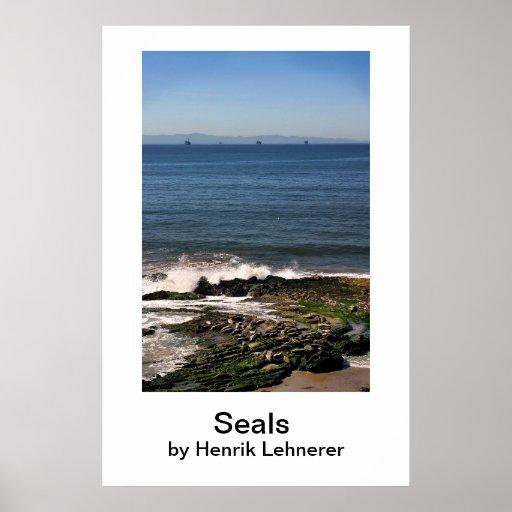 Seals, Seals, by Henrik Lehnerer Poster