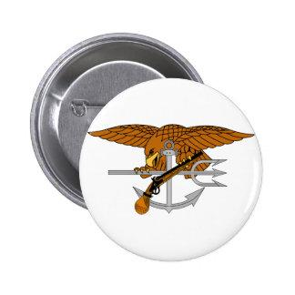 SEALs Trident 2 Inch Round Button