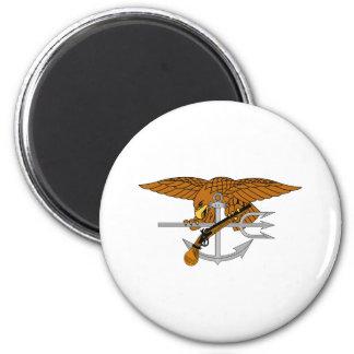 SEALs Trident 2 Inch Round Magnet
