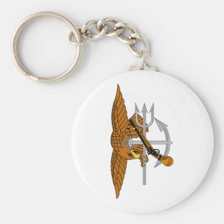 SEALs Trident Basic Round Button Keychain