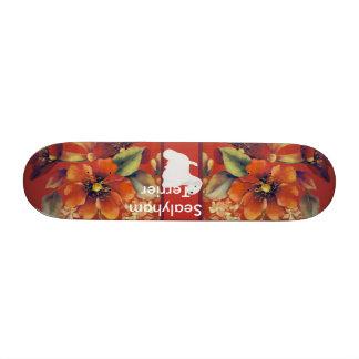 Sealyham Terrier - Autumn Floral Design Skate Boards