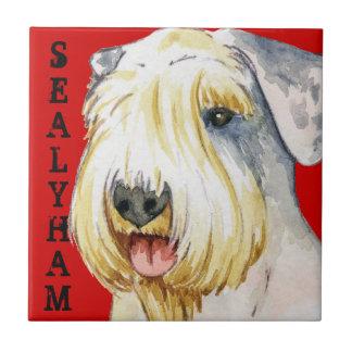 Sealyham Terrier Color Block Ceramic Tile