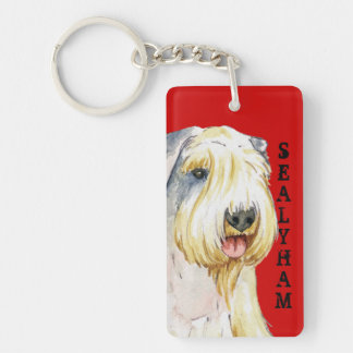 Sealyham Terrier Color Block Keychain