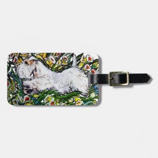 Sealyham Terrier Daffodils Bag Tag