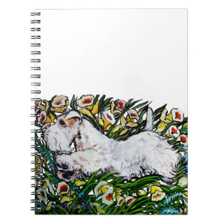 Sealyham Terrier Daffodils Notebook