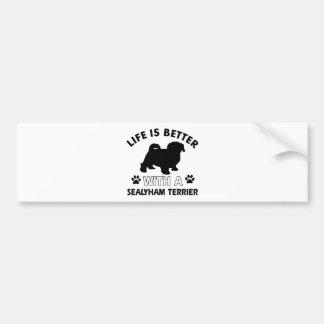 Sealyham terrier dog breed designs bumper sticker