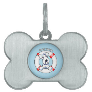 Sealyham Terrier First Mate Pet Name Tag