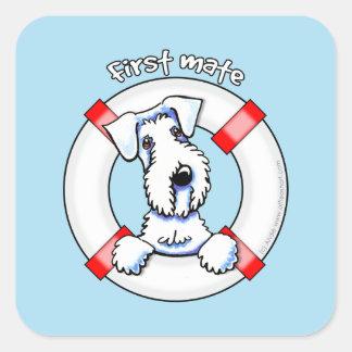 Sealyham Terrier First Mate Square Sticker