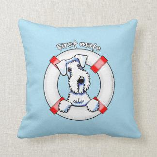 Sealyham Terrier First Mate Throw Pillow
