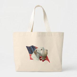 Sealyham Terrier Flag Large Tote Bag