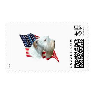 Sealyham Terrier Flag Stamp