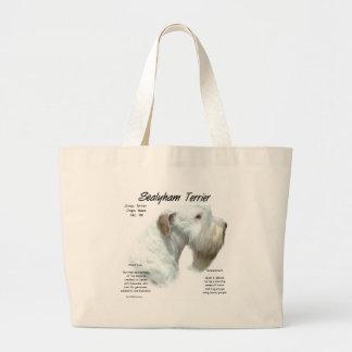 Sealyham Terrier History Design Tote Bags