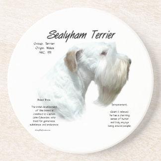Sealyham Terrier History Sandstone Coaster