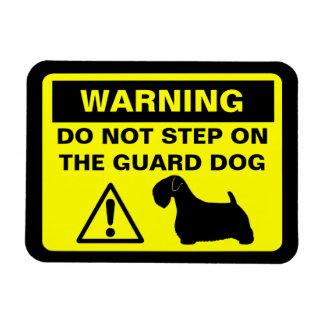 Sealyham Terrier Humorous Guard Dog Warning Magnet