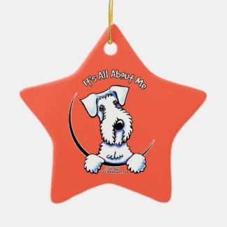 Sealyham Terrier IAAM Adorno Navideño De Cerámica En Forma De Estrella