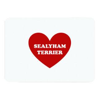 """Sealyham Terrier Invitación 5"""" X 7"""""""
