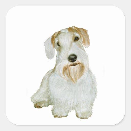 Sealyham Terrier (l) Calcomanía Cuadradas Personalizada