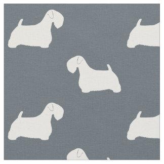 Sealyham Terrier Silhouettes Pattern Fabric
