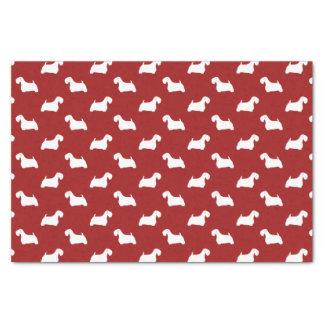 Sealyham Terrier Silhouettes Pattern Red Tissue Paper