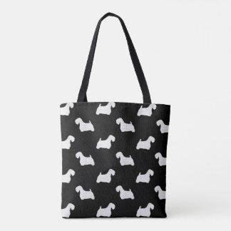 Sealyham Terrier Silhouettes Pattern Tote Bag
