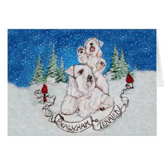 Sealyham Terrier Winter Greeting Card