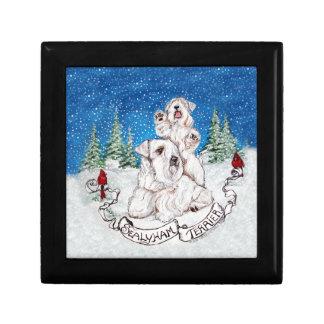 Sealyham Terrier Winter Gift Box