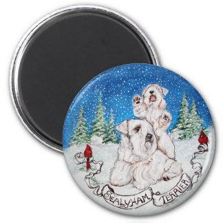 Sealyham Terrier Winter Refrigerator Magnets