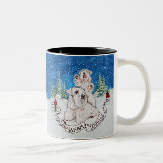 Sealyham Terrier Winter Two-Tone Coffee Mug