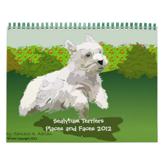 Sealyham Terriers Places and Faces 2012 Wall Calendar
