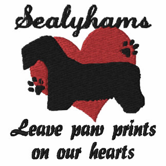 Sealyhams Leave Paw Prints Embroidered Shirt