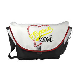 Seam Stitch Heart Softball Mom Seam Bag Tote Purse