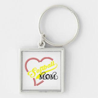 Seam Stitch Heart Softball Mom Seams Bal Key Chain