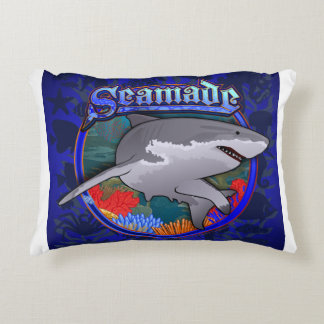 Seamade White Shark Design Accent Pillow