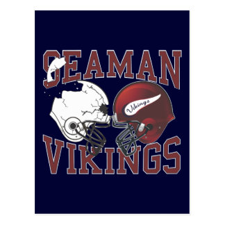Seaman Vikings Crashing Helmets Postcard