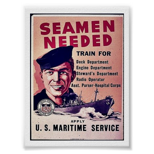 Seamen Needed Poster