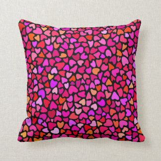 Seamles Colorful Hearts Pattern Girly Pillow